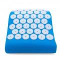 Массажная акупунктурная подушка (анатомическая) EcoRelax, голубой - 3