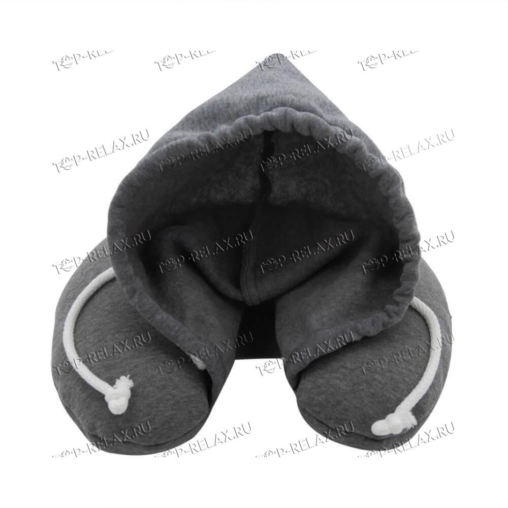 Подушка-воротник для путешествий с капюшоном