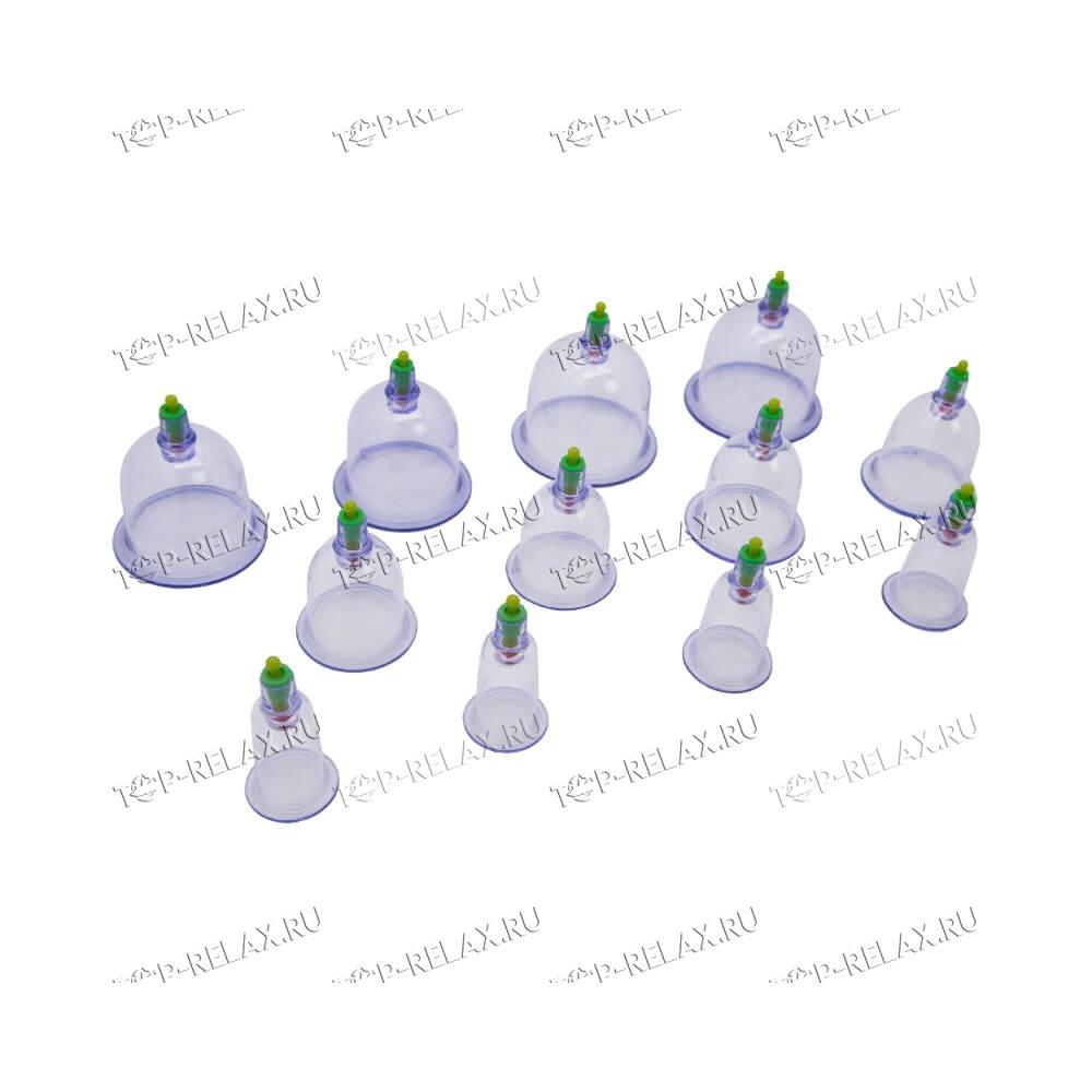 Массажные вакуумные банки с насосом VAC-12 - 4