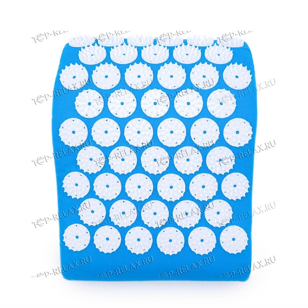 Массажная акупунктурная подушка (анатомическая) EcoRelax, голубой - 4