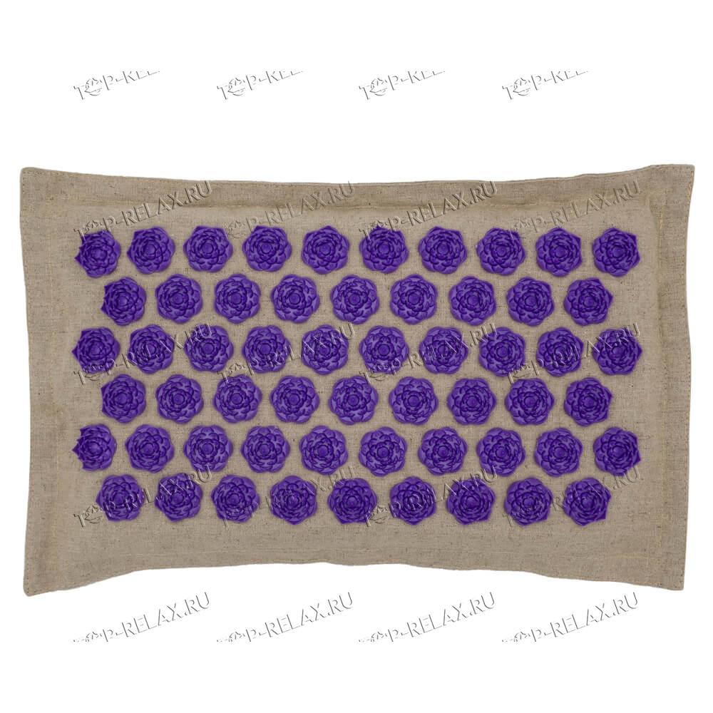 Массажная акупунктурная подушка (квадратная) EcoRelax, фиолетовый - 3