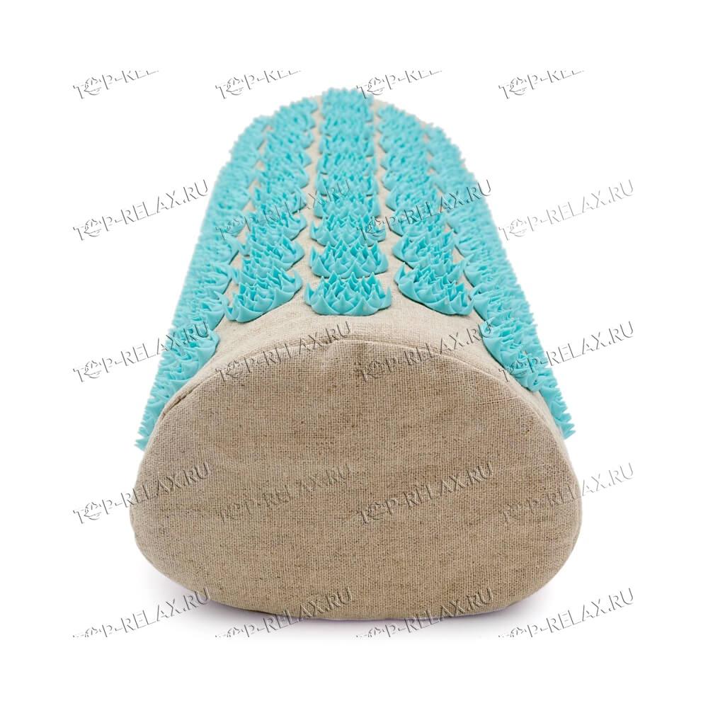 Массажная акупунктурная подушка (валик) EcoRelax, голубой - 4