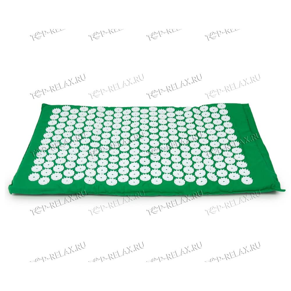 Массажный акупунктурный коврик EcoRelax, зеленый - 2