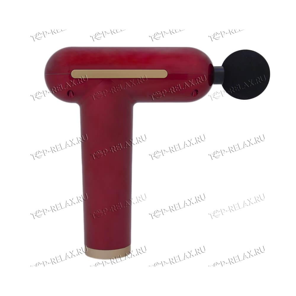 Перкуссионный массажер TY-606 4 насадки, красный - 2
